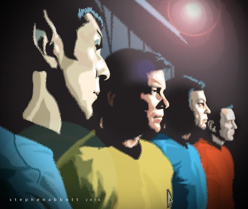 Leonard Nimoy, William Shatner, DeForest Kelley, James Doohan par Henstepbatbot